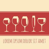 Wine glasses - vector template — Stock Vector