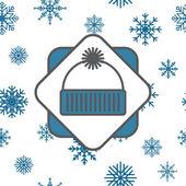ビーニー シームレスな雪の結晶アイコン — ストック写真
