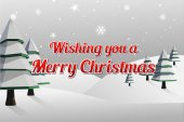 Merry christmas vector with fir trees — Stock Vector