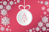 Christmas themed vector with snowflake and bauble — Stock Vector