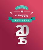 Frohe feiertage 2015 nachricht vektor — Stockvektor