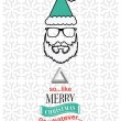Hipster christmas vector with sarcastic message — Stock Vector #54309471
