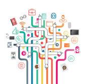 Business program och ikoner vektor — Stockvektor