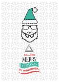 Hipster christmas vector with sarcastic message — Stock Vector