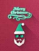 流行に敏感なメリー クリスマス ベクトル サンタ — ストックベクタ