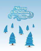Merry christmas vector with cute illustrations  — Wektor stockowy