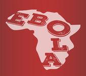 Ebola text in africa outline vector — Stock Vector