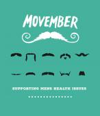Movember advertisement vector with text and graphic — Wektor stockowy
