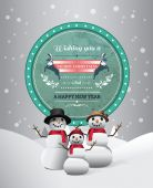 Christmas greeting message with illustrations — 图库矢量图片