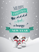 Christmas greeting message with illustrations — Stock Vector