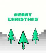 Merry christmas vector in retro video game style — Stock Vector