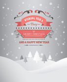 Merry christmas and happy new year vector — Stock Vector