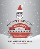 Merry christmas and happy new year vector — 图库矢量图片