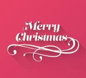 Merry christmas cursive message vector — Stock Vector