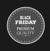 Black friday vector on badge — Stock Vector