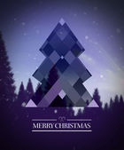 Merry christmas vector with hipster design — Stockvector