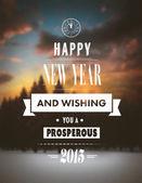Happy new year 2015 vector — Stock Vector