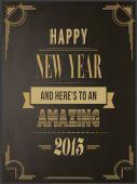 Happy new year vector in art deco style — Stock Vector
