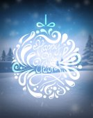 Happy new year vector on snowy background — Stockvector