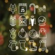 Christmas icons in hipster style vector — Stock Vector #59632865