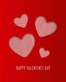Happy valentines day vector with hearts — Stockvector