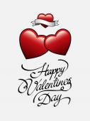 Happy Valentines Day vector with hearts — Stock Vector