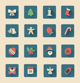 Christmas icons in hipster style vector — Stock Vector