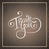 Thank you in cursive script — Stock vektor