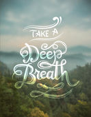 Take a deep breath — Stock Vector
