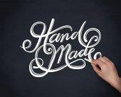 Handmade cursive font — Stock Vector