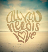 All you need is love vector — 图库矢量图片