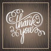 Thank you in cursive script — Stock Vector