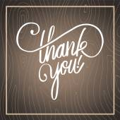 Thank you in cursive script — Stock Vector