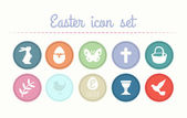Easter icon set collection — Stock Vector