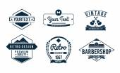 Vintage set of badges — Stock Vector
