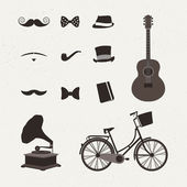 Vintage set of icon — Stock Vector
