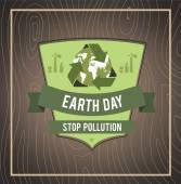 Earth day sign — Stock Vector