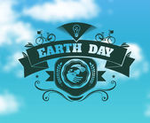 Earth day sign — Stockvector