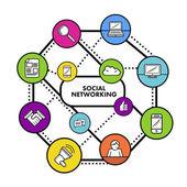 Concepto de redes social — Vector de stock