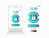 Slide to unlock phone — Stock Vector