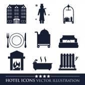 Hotel design — Vettoriale Stock