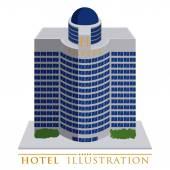 Hotel design — Stock Vector