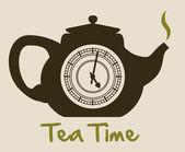 Conception de thé — Vecteur