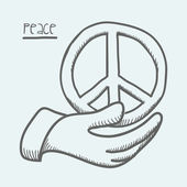 Peace design — Stock Vector