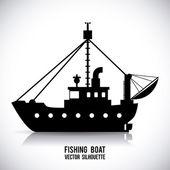 Boat design  — Stock Vector