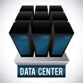Data center design  — Stock Vector
