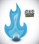 Gas natural design  — 图库矢量图片