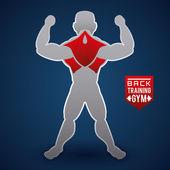Bodybuilding design  — Wektor stockowy