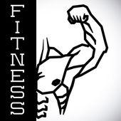 Bodybuilding design — Stock Vector