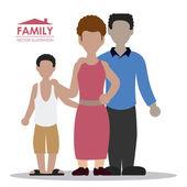 Family design  — Vetor de Stock